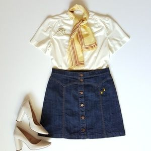Western Style Denim Skirt